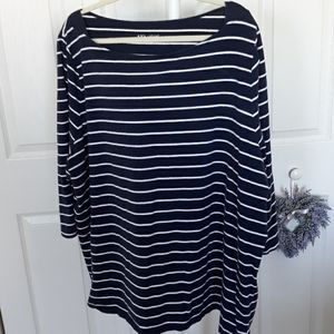 Ava and Viv 4x navy and white tunic!!!